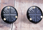 TPS Carb/Throttle Body Caps:  Union Jack Black (Pair) Bonneville Bobber Thruxton Speed Twin.